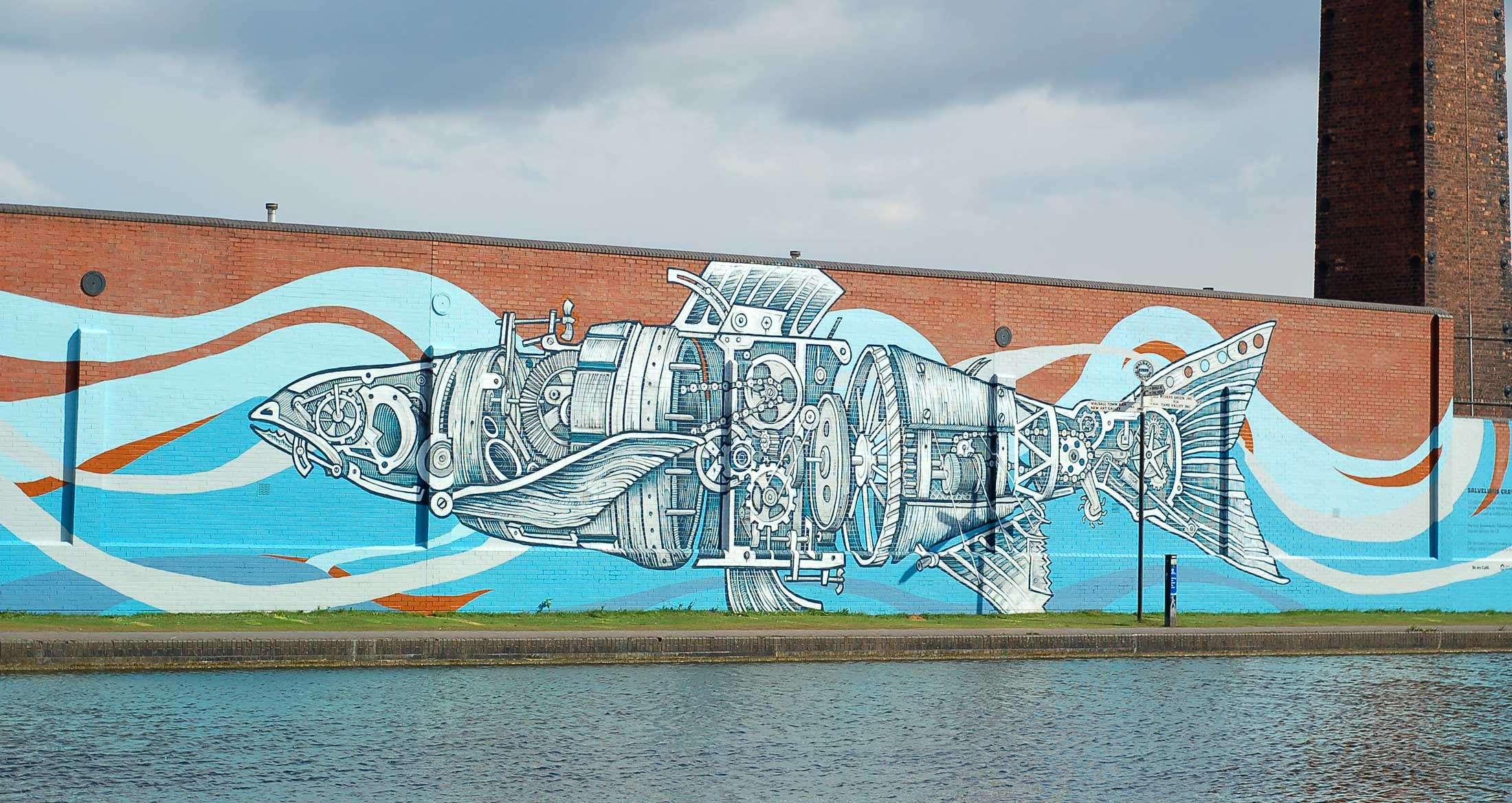 Majorfax Canalside Mural Unveiled
